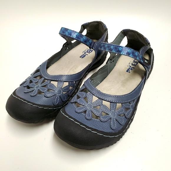 JBU by Jambu Blue Wildflower Sandals Size 9